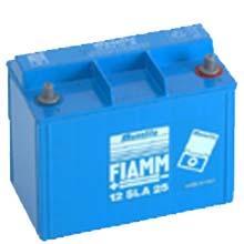 FIAMM 12 SLA 25 (Фиамм 12SLA25) - Аккумуляторная батарея 12В (12V) | 25 Ач (25 Ah) / Аккумулятор / Батарея / АКБ / Купить / Цена / Стоимость