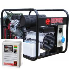 Бензиновый генератор с автозапуском 9 кВт однофазный / бензогенератор / электрогенератор / электростанция / миниэлектростанция / honda / купить / цена / EUROPOWER EP 10000 E Auto + АВР БАРС АП40 + МС 010