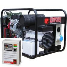 Бензиновый генератор с автозапуском 10 кВт однофазный / бензогенератор / электрогенератор / электростанция / миниэлектростанция / honda / купить / цена / EUROPOWER EP 12000 E Auto + АВР БАРС АП40 + МС 010