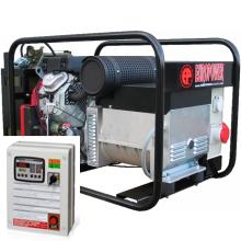 Бензиновый генератор с автозапуском 10 кВт трехфазный / бензогенератор / электрогенератор / электростанция / миниэлектростанция / honda / купить / цена / EUROPOWER EP 13500 TE Auto + АВР БАРС АП40 + МС 010