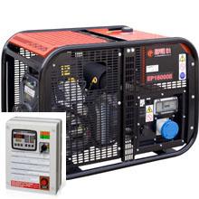 Бензиновый генератор с автозапуском 14 кВт однофазный / бензогенератор / электрогенератор / электростанция / миниэлектростанция / B&S Vanguard / купить / цена / EUROPOWER EP 16000 E Auto + АВР БАРС АП40 + МС 010