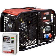 Бензиновый генератор с автозапуском 16 кВт трехфазный / бензогенератор / электрогенератор / электростанция / миниэлектростанция / B&S Vanguard / купить / цена / EUROPOWER EP 20000 TE Auto + АВР БАРС АП40 + МС 010