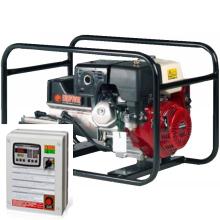 Бензиновый генератор с автозапуском 3 кВт однофазный / бензогенератор / электрогенератор / электростанция / миниэлектростанция / honda / купить / цена / EUROPOWER EP 4100 E Auto + АВР БАРС АП40 + МС 010