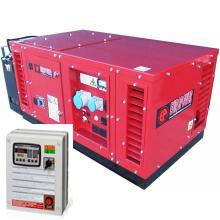 Бензиновый генератор в кожухе с автозапуском 10 кВт однофазный / бензогенератор / электрогенератор / электростанция / миниэлектростанция / honda / купить / цена / EUROPOWER EPS 12000 E Auto + АВР БАРС АП40 + МС 010