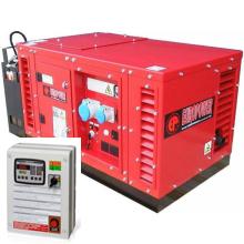 Бензиновый генератор в кожухе с автозапуском 5 кВт однофазный / бензогенератор / электрогенератор / электростанция / миниэлектростанция / honda / купить / цена / EUROPOWER EPS 6000 E Auto + АВР БАРС АП40 + МС 010