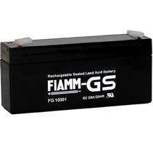 Аккумулятор для ИБП 6 В | 3 Ач / Аккумуляторная батарея 6В / АКБ FIAMM FG10301 / Купить / Цена / Срок службы 5 лет