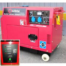 Дизельный генератор в кожухе с автозапуском 5 кВт однофазный / дизельгенератор / электрогенератор / электростанция / миниэлектростанция / купить / цена / LEEGA LDG6000CLES Auto + АВР