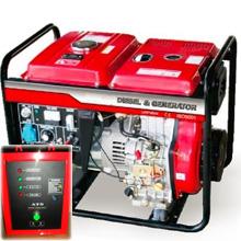 Дизельный генератор с автозапуском 5 кВт однофазный / дизельгенератор / электрогенератор / электростанция / миниэлектростанция / купить / цена / LEEGA LDG6000CLE Auto + АВР