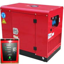 Бензиновый генератор в кожухе с автозапуском 9 кВт однофазный / бензогенератор / электрогенератор / электростанция / миниэлектростанция / купить / цена / LEEGA LT11000CLES Auto + АВР